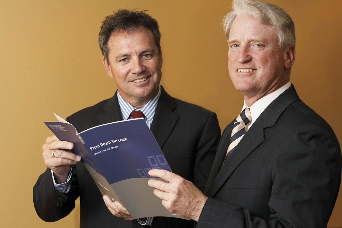 Dr Neale Fong in 2006 when he was the Director General of Health with the then State Coroner Alistair Hope.