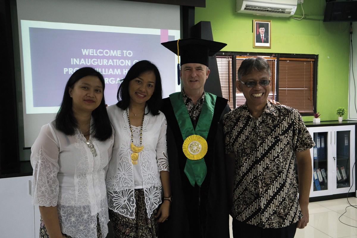Prof Bill Morgan inauguration to Udayana University in Denpasar