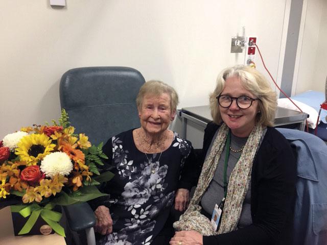 Glenis Lucanus (left) & Dr Helen Rhodes (right)