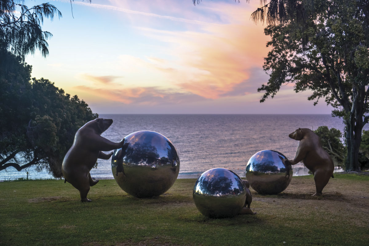 Rolling the Earth by Tae-Geun Yang (South Korea). From the 2019 Sculpture by the Sea