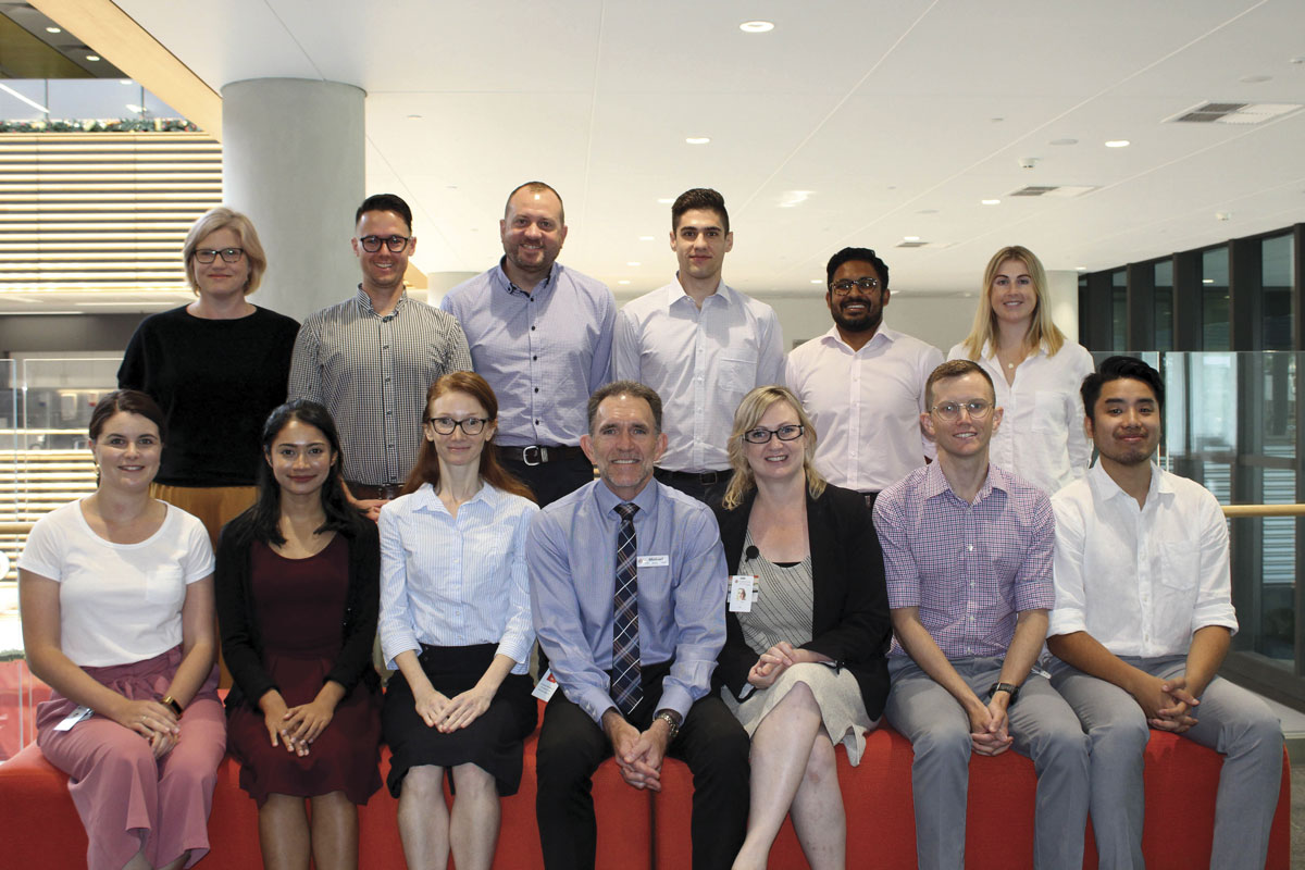 SJG Midland Public and Private Hospitals CEO Michael Hogan with the group's first intern intake.