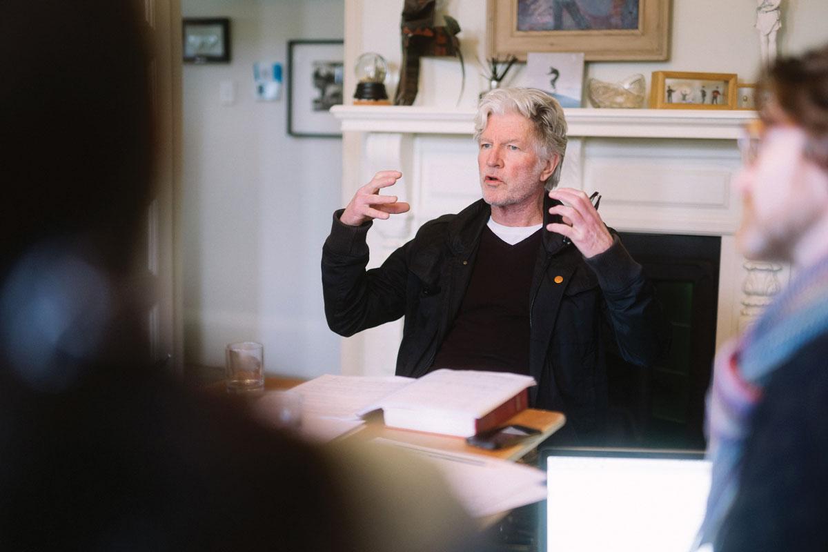 Tim Finn discusses his opera. Image: Sean Finney