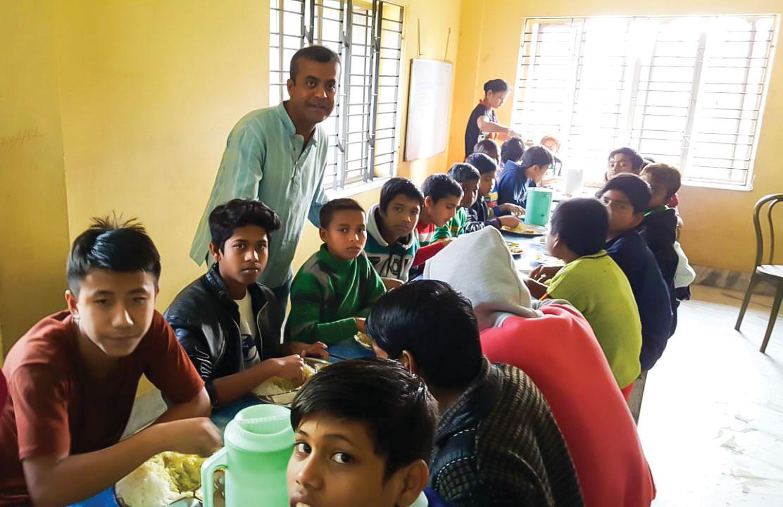 Dr Sayanta Jana at a CINI centre during a recent trip to West Bengal, India.