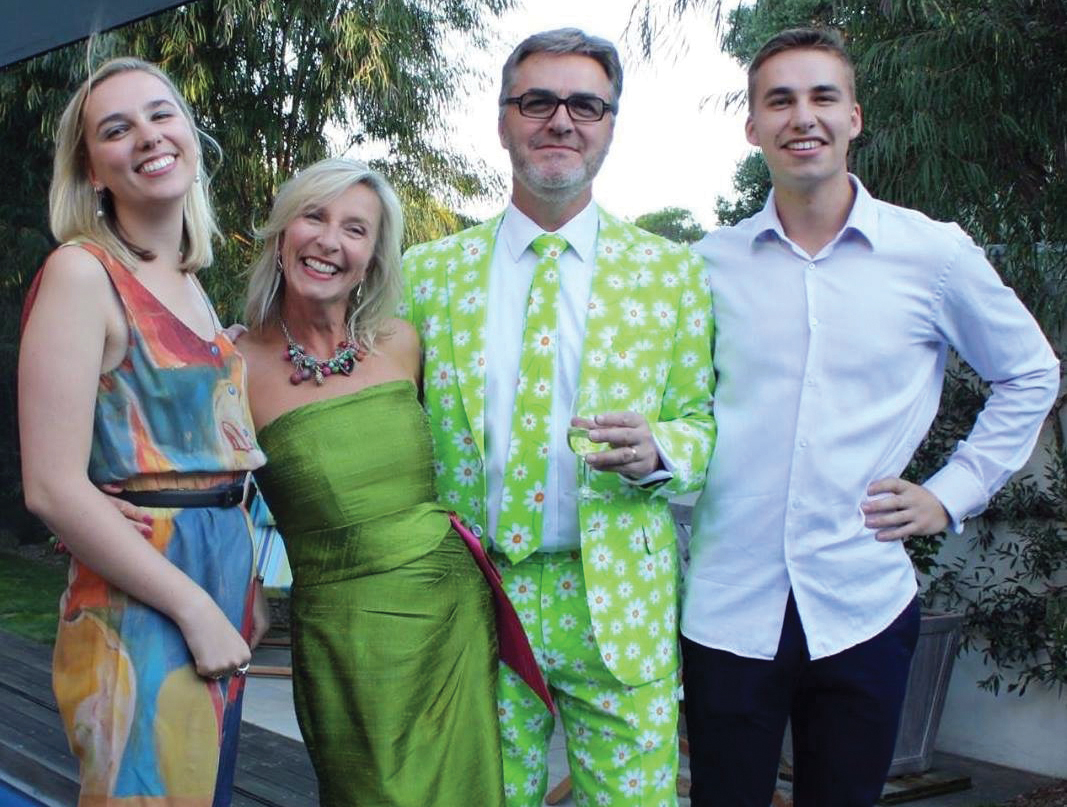 Professor Jon Watson and his family.