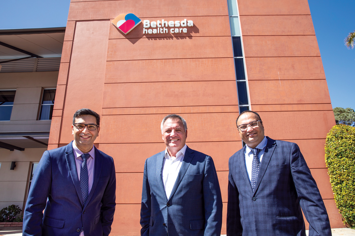 Bethesda chair Dr Neale Fong is pictured here with Dr Singh (left) and Dr Dharjinder (right).